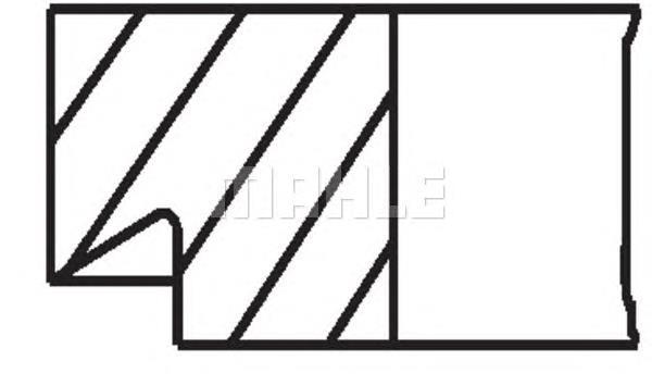 кольца поршневые комплект на мотор, 3-й ремонт (+0,75)  00981N2