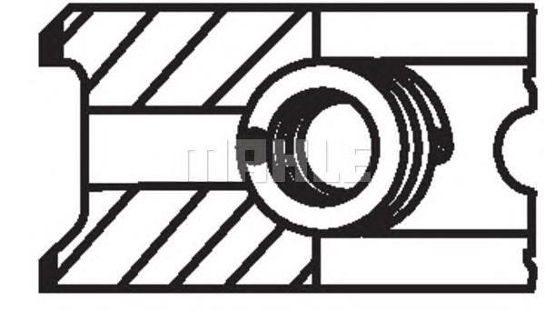 Фото: Кольца поршневые на 1 цилиндр, 2-й ремонт (+0,65) Alfa Romeo 164