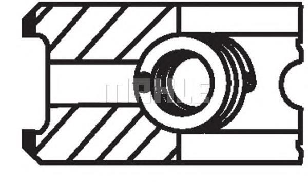 Кольца поршневые на 1 цилиндр, STD. MAHLE 03999N0