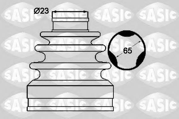 Пыльник ШРУСа передней полуоси внутренний SASIC 1904037
