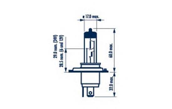 Лампочка галогенная, дальний/ближний свет NARVA 48892