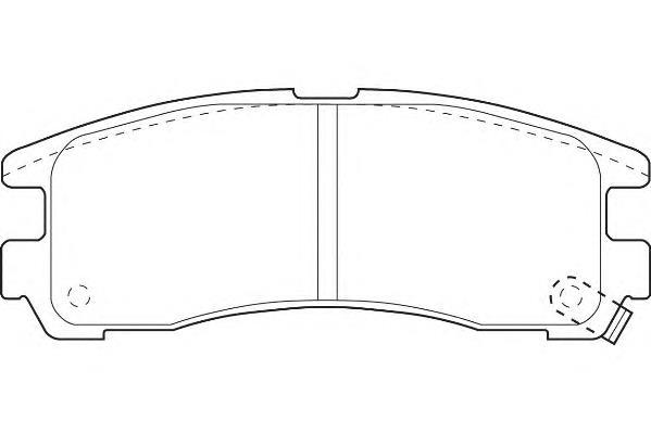 колодки тормозные задние дисковые  WBP21706A