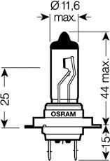 Лампочка галогенная, дальний свет OSRAM 64215