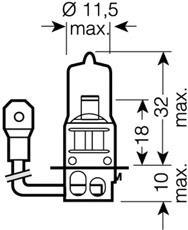 Лампочка галогенная, дальний/ближний свет OSRAM 64151