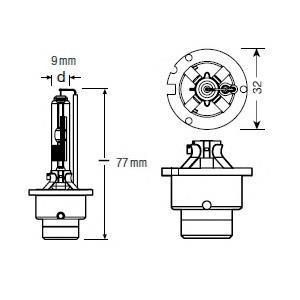 Лампочка ксеноновая OSRAM 66250