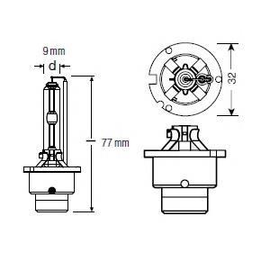 Лампочка ксеноновая OSRAM 66240