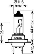 Лампочка галогенная, дальний/ближний свет OSRAM 64210