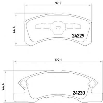 Фото: Колодки гальмівні передні, дискові Daihatsu Max
