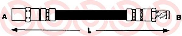 шланг тормозной задний  T50033
