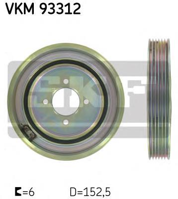 шкив коленвала  VKM93312
