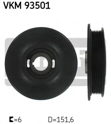 шкив коленвала  VKM93501