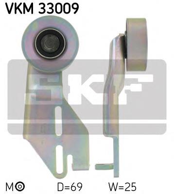ролик натягувача приводного ременя  VKM33009