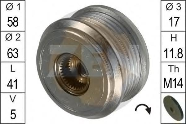 ролик натягувача приводного ременя  zn5424