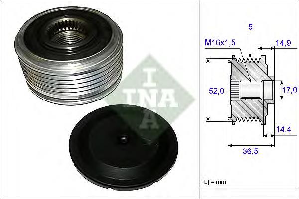 Шкив генератора INA 535012910