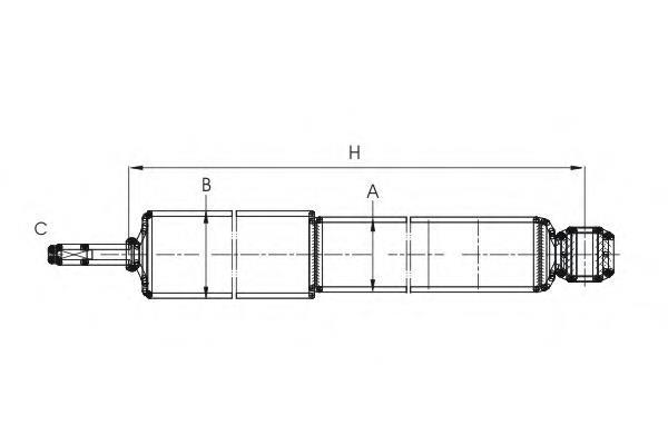 амортизатор передній  Z2976