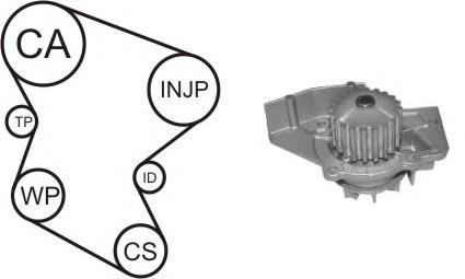 ремень грм, комплект  WPK158003