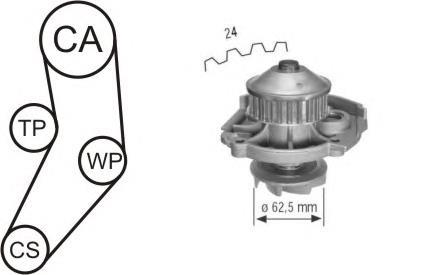 ремень грм, комплект  WPK161601