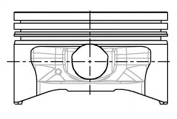 поршень в комплекте на 1 цилиндр, 3-й ремонт (+0,75)  8778030930
