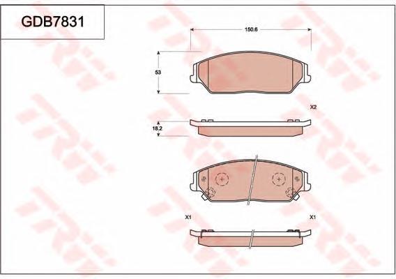 Фото: Колодки тормозные передние дисковые BYD M6