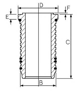 гильза поршневая  SJ351453