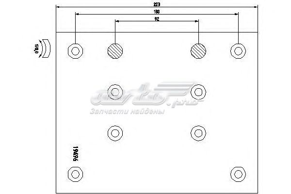 Накладки тормозные mercedes 410x223x17 std