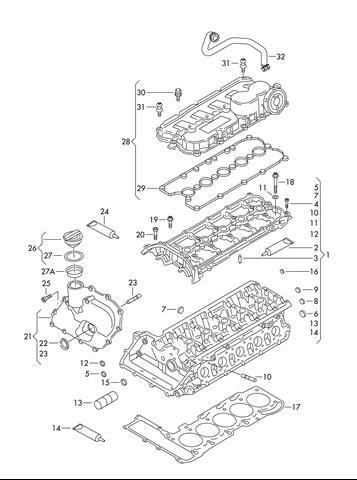 Крышка маслозаливной горловины volkswagen passat b7 2.5 usa cbua 2011-2015 06b103485c