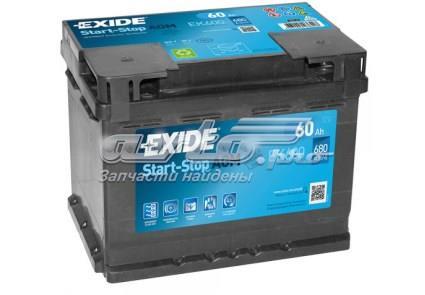 Аккумуляторная батарея   exide  agm  60 (r+) (680а) ek600 (німеччина)
