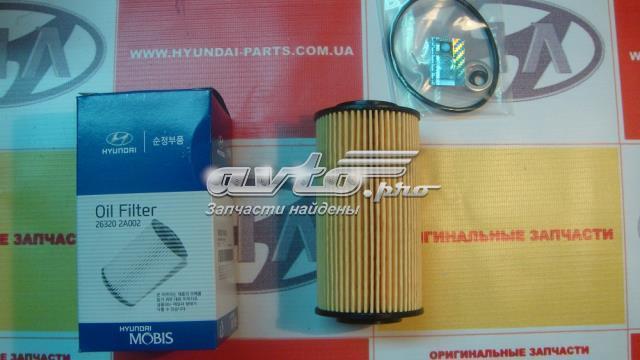 Фильтр масляный, элемент, hyundai, 263202a002