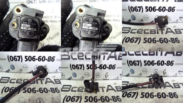 Датчик давления наддува на впускном коллекторе mercedes sprinter vito w639 (2003-2014) 02612304400101537228(120)