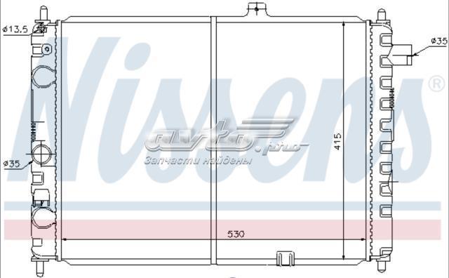 радиатор opel ascona c 1,3-1.8 530*415