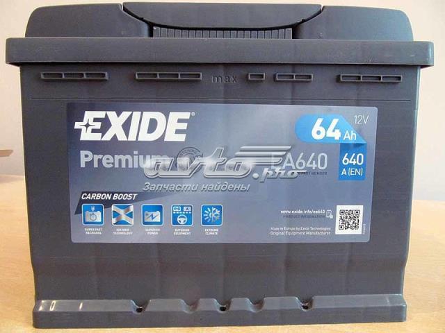Аккумуляторная батарея (акб) exide premium 64ач 640а (en) гарантия 3 года