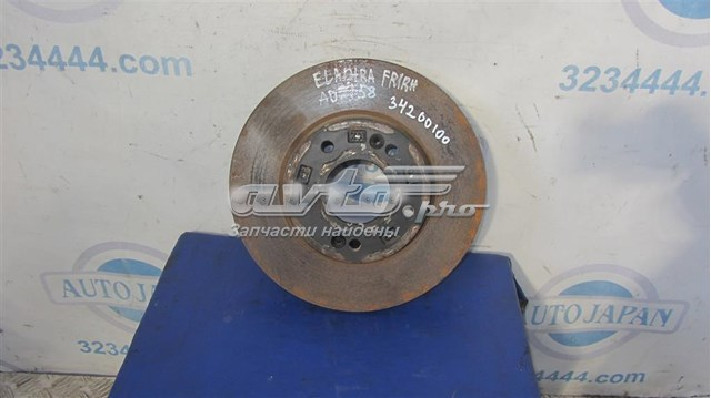 Hyundai elantra ad 16- 2017 серебро диск тормозной передний