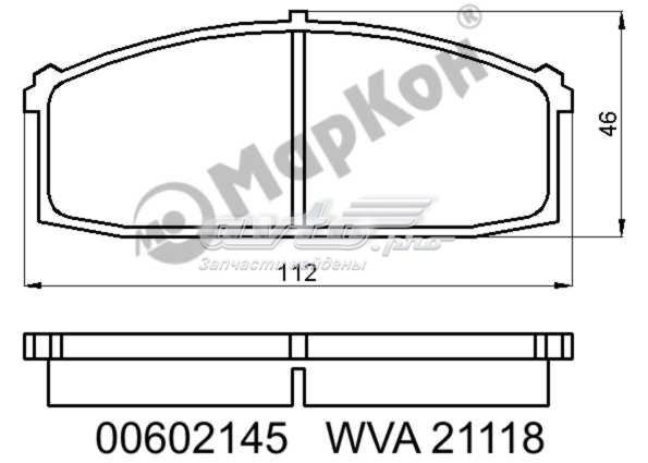 Колодки тормозные дисковые к-т с мех. индикатором износа nissan (колодки тормозные fr  с  механическим датчиком)