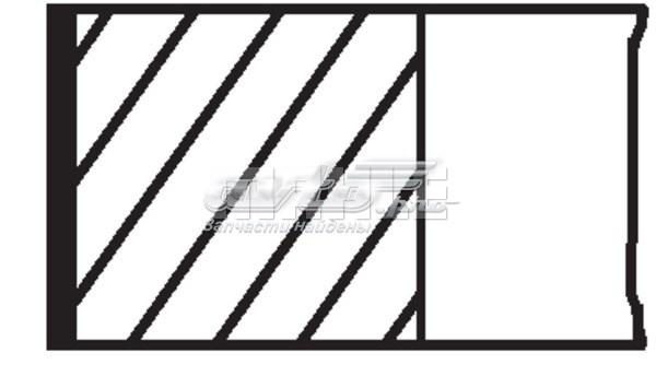 Кольца поршневые! d76x1,75x2x4 std (1) (комплект поршневых колец на 1 поршень(3шт) renault)