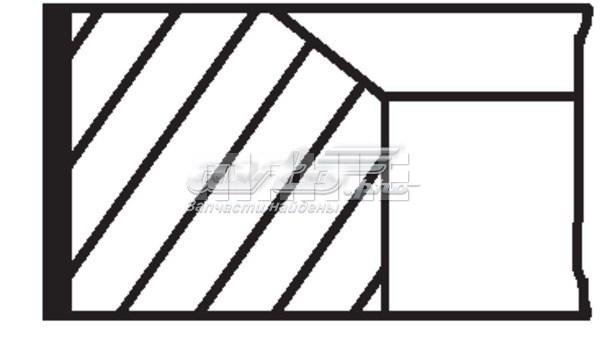 Кольца поршневые! d88x1.5x1.75x3 std (1) (ringsatz 88,000 renault)