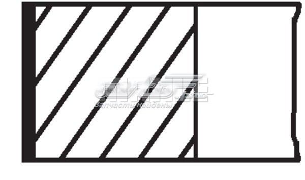 Кольца поршневые 1шт peugeot 306/405 1.8-1.9 =83 1.5x1.5x3 std 88> (кольца поршневые  std (комплект на  1 цилиндр))