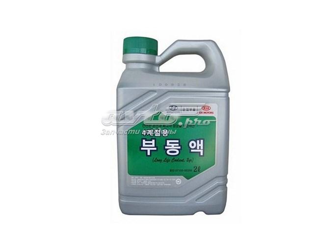Антифриз (концентрат) 2л - hyundai long life coolant зеленый (жидкость охлаждающая hyundai long life coolant  kr/2l)