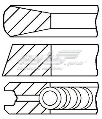 Кольца поршн компл на 1 цил iveco daily  renault (комплект поршневых колец)