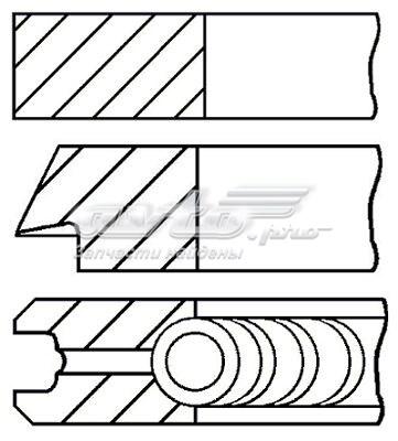 Кольца поршн к-т на 1 цил (комплект поршневых колец)