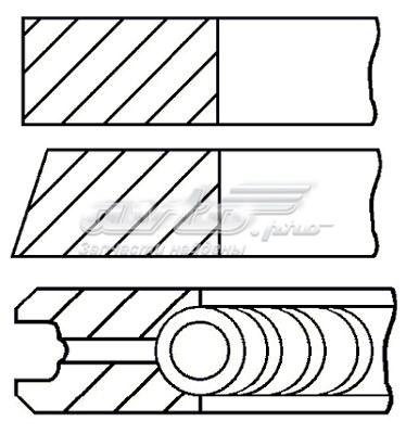 Кольца поршневые! d70.8x1.19x1.2x2.5 std (1) (комплект поршневых колец)