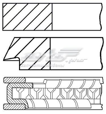 Кольца поршневые ford 1.8 d83 1.2-1.2-2.5 (кольца поршневые, комплект std)