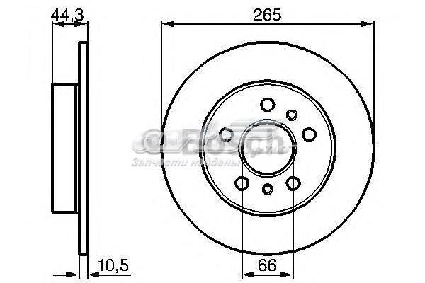 Диск тормозной задний (тормозной диск задний 0986478757)