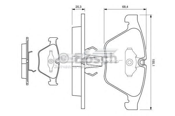 Колодки bmw 7-серии e60, e61,e65,e66 wva23312 (колодки тормозные дисковые, комплект)