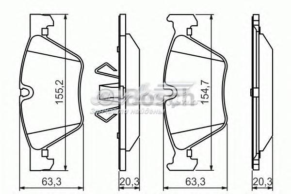Комплект тормозных колодок, диско 0986494117 (колодки тормозные дисковые, комплект)