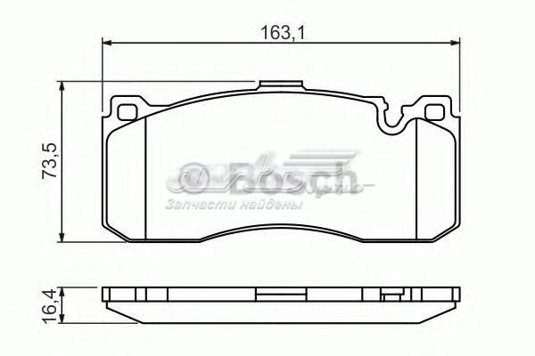 Колодки тормозные bmw 1 e81/87/3 e90/91 передние (комплект тормозных колодок, дисковый тормоз)