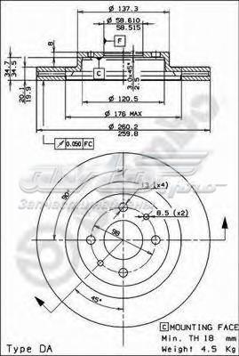 Диск тормозной ваз 2110-2112 r14 передний вентилируемый
