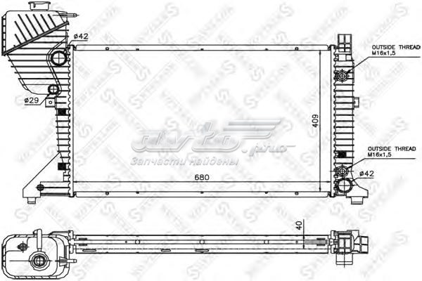 Радиатор системы охлаждения (10-25403-sx радиатор системы охлаждения!\ mb w210 2.7-3.2cdi 99-02)