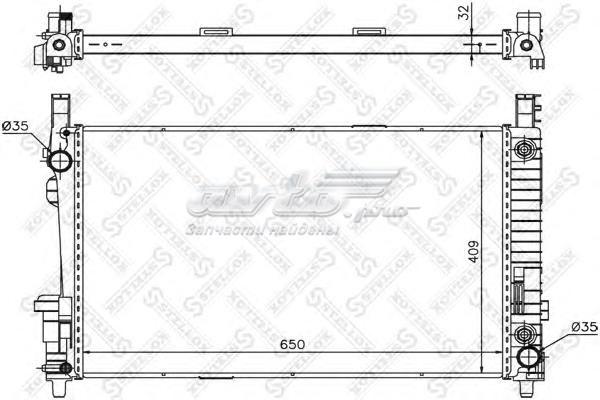 Радиатор системы охлаждения! акпп (10-25936-sx_радиатор системы охлаждения! акпп\ mb w169/w245 1.5/1.7/2.0i/cdi 04>)
