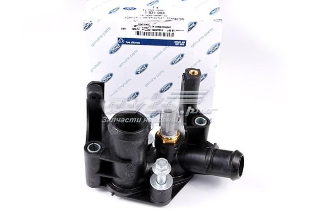 Фланец системы охлаждения ford focus 2, fusion 1.4/1.6 (фланец водяной с датчиком /  1,6 zetec-s/duratec 07~)