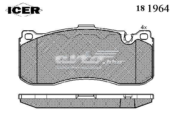 Колодки дисковые передние (колодки тормозные передние, комплект/ 181964000300001/)